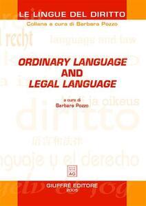 Ordinary language and legal language