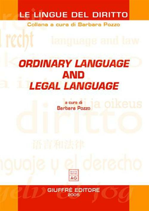 Libro Ordinary language and legal language