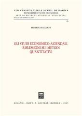 Gli studi economico-aziendali. Riflessioni sui metodi quantitativi
