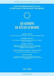 Libro Quaderni di studi europei (2005). Vol. 1