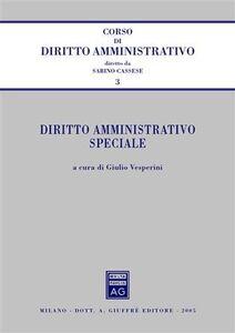Libro Diritto amministrativo speciale