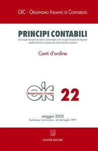 Libro Principi contabili. Vol. 22: Conti d'ordine.