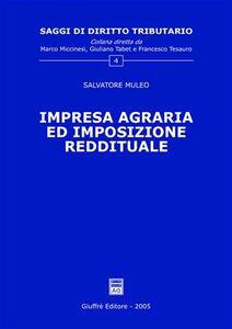 Libro Impresa agraria ed imposizione reddituale Salvatore Muleo