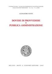 Dovere di provvedere e pubblica amministrazione