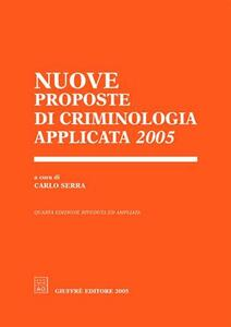 Nuove proposte di criminologia applicata 2005 - copertina