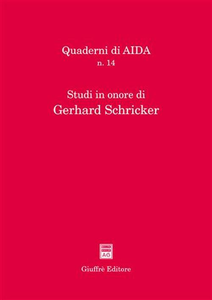 Libro Studi in onore di Gerhard Schricker