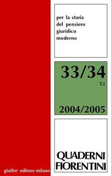 Quaderni fiorentini per la storia del pensiero giuridico moderno vol. 33-34: L'Europa e gli «altri». Il diritto coloniale fra Otto e Novecento - copertina