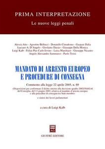 Libro Mandato di arresto europeo e procedure di consegna