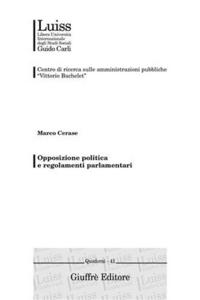 Libro Opposizione politica e regolamenti parlamentari Marco Cerase