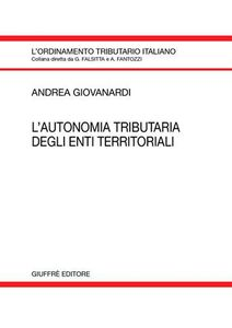 Libro L' autonomia tributaria degli enti territoriali Andrea Giovanardi