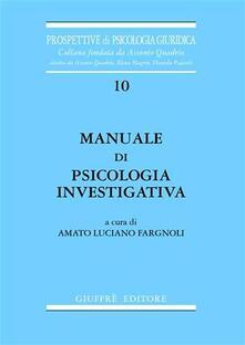 Birrafraitrulli.it Manuale di psicologia investigativa Image