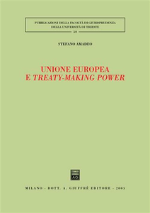 Libro Unione Europea e treaty-making power Stefano Amadeo