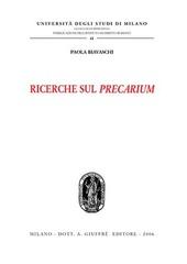 Ricerche sul precarium