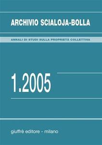 Archivio Scialoja-Bolla (2005). Vol. 1 - copertina