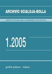 Archivio Scialoja-Bolla (2005). Vol. 1