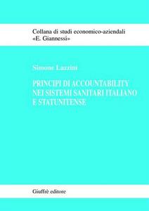 Libro Principi di accountability nei sistemi sanitari italiano e statunitense Simone Lazzini