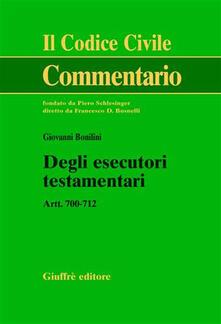 Premioquesti.it Degli esecutori testamentari. Artt. 700-712 Image