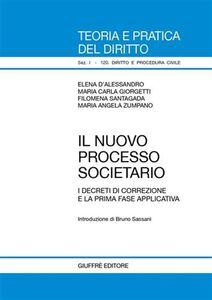 Libro Il nuovo processo societario. I decreti di correzione e la prima fase applicativa