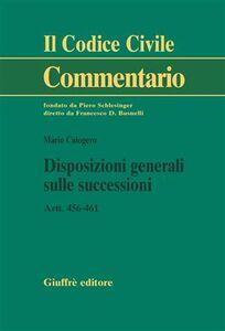 Libro Disposizioni generali sulle successioni. Artt. 456-461 Mario Calogero