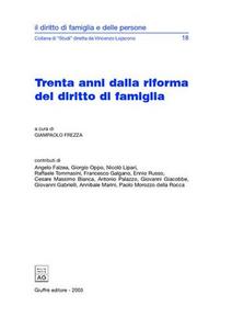 Libro Trenta anni dalla riforma del diritto di famiglia