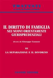 Il diritto di famiglia nei nuovi orientamenti giurisprudenziali. Vol. 3: La separazione e il divorzio.