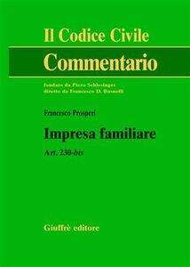 Foto Cover di Impresa familiare. Art. 230-bis, Libro di Francesco Prosperi, edito da Giuffrè