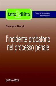 Libro L' incidente probatorio nel processo penale Giuseppe Biondi
