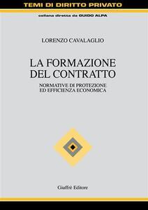 La formazione del contratto - Lorenzo Cavalaglio - copertina