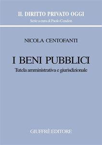 Libro I beni pubblici. Tutela amministrativa e giurisdizionale Nicola Centofanti