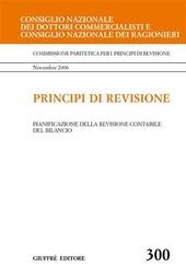 Principi di revisione. Documento 300. Pianificazione della revisione contabile del bilancio