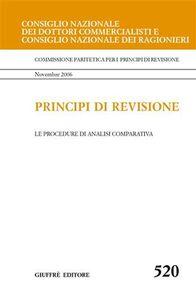 Foto Cover di Principi di revisione. Documento 520. Le procedure di analisi comparativa, Libro di  edito da Giuffrè