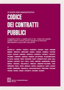 Libro Codice dei contratti pubblici
