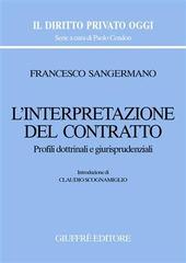 L' interpretazione del contratto. Profili dottrinali e giurisprudenziali