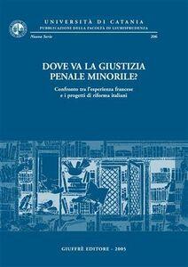 Libro Dove va la giustizia penale minorile? Confronto tra l'esperienza francese e i progetti di riforma italiani