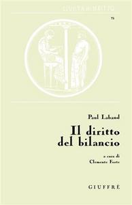 Libro Il diritto del bilancio Paul Laband