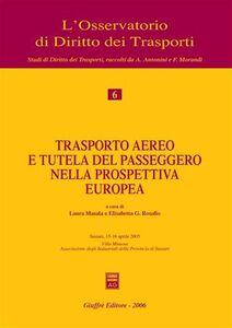 Foto Cover di Trasporto aereo e tutela del passeggero nella prospettiva europea. Atti del Convegno (Sassari, 15-16 aprile 2005), Libro di  edito da Giuffrè