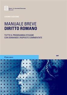 Diritto romano - Cosimo Cascione - copertina