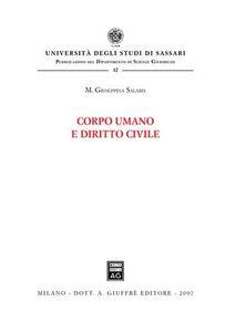 Libro Corpo umano e diritto civile M. Giuseppina Salaris