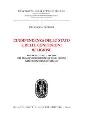 L' indipendenza dello Stato e delle confessioni religiose