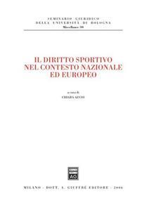 Il diritto sportivo nel contesto nazionale ed europeo
