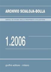 Archivio Scialoja-Bolla (2006). Vol. 1