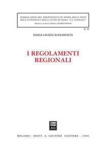 Libro I regolamenti regionali M. Grazia Rodomonte