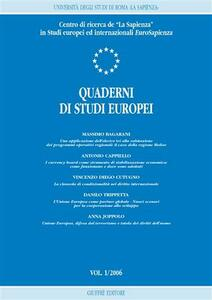 Quaderni di studi europei (2006). Vol. 1