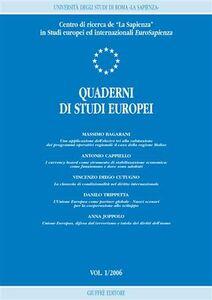 Libro Quaderni di studi europei (2006). Vol. 1