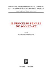 Libro Il processo penale de societate