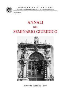 Libro Annali del Seminario giuridico (2005-2006)