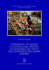 Fondamento, attuazione e controllo del principio di sussidiarietà nel diritto della Comunità e dell'Unione Europea