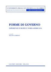 Forme di governo. Esperienze europee e nord-americana