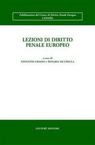 Libro Lezioni di diritto penale europeo
