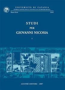 Foto Cover di Studi per Giovanni Nicosia, Libro di  edito da Giuffrè